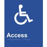 Braille Sign - Access