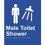 Braille Sign - Male Toilet Shower
