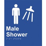 Braille Sign - Male Shower