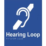 Braille Sign - Hearing Loop