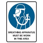 Breathing Apparatus Picto Breathing Apparatus Must Be Worn In This Area Sign