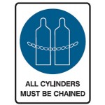 Chain Cylinders Picto All Cylinders Must Be Chained Sign