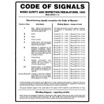 Code Of Signals Sign Metal - H600mm x W450mm
