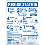 CPR Resuscitation Poster Blue