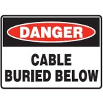 Danger Cable Buried Below Sign