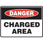 Danger Charged Area Sign
