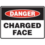 Danger Charged Face Sign