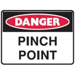 Danger Pinch Point Sign Self-Adhesive Vinyl
