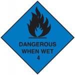 Dangerous When Wet Class 4.3 Sign