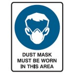 Dust Mask Picto Dust Mask Must Be Worn In This Area Sign