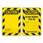 Economy Lockout Tags - Blank Caution
