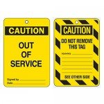 Economy Lockout Tags - Caution Out Of Service