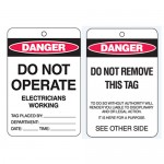 Economy Lockout Tags - Danger Do Not Operate Electricians Working