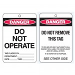 Economy Lockout Tags - Danger Do Not Operate