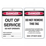 Economy Lockout Tags - Danger Out Of Service Do Not Operate