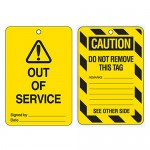 Economy Lockout Tags - Warning Picto Out Of Service
