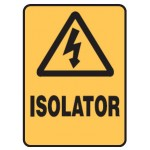 Electrical Picto Isolator Sign