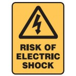 Electrical Picto Risk Of Electric Shock Sign