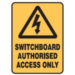 Electrical Picto Switchboard Authorised Access Only Sign