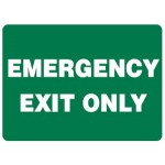 Emergency Exit Only Sign - H200mm x W250mm