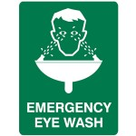 Emergency Eye Wash First Aid Sign