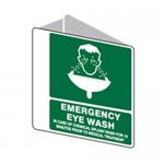 Emergency Eye Wash Sign Polypropylene - H225mm x W225mm