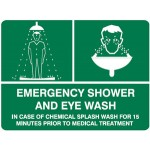 Emergency Shower And Eye Wash First Aid Sign