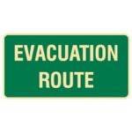 Evacuation Route Sign Photoluminescent - H180mm x W350mm