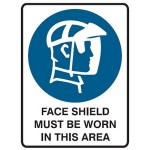 Face Shield Picto Face Shield Must Be Worn In This Area Sign