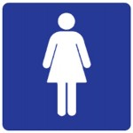 Female Picto Sign Metal - H200mm x W200mm