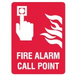Fire Alarm Call Point Sign - H300mm x W225mm