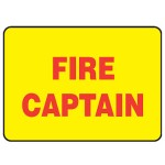 Fire Captain Sign Reflective Metal - H40mm x W80mm