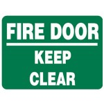 Fire Door Keep Clear Sign - H200mm x W250mm