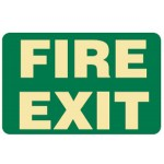 Fire Exit Sign Photoluminescent - H180mm x W300mm