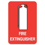 Fire Extinguisher Picto Fire Extinguisher Sign Double Sided Wall Mount - H300mm x W200mm