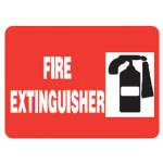 Fire Extinguisher Picto Fire Extinguisher Sign Metal - H200mm x W450mm