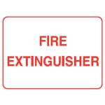 Fire Extinguisher Sign Self-Adhesive Vinyl - H100mm x W300mm