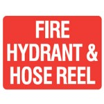 Fire Hydrant & Hose Reel Sign