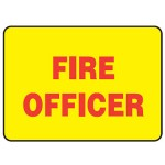 Fire Officer Sign Reflective Metal - H40mm x W80mm