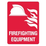 Firefighting Equipment Sign Metal