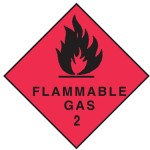 Flammable Gas Class 2.1 Sign