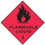 Flammable Liquid Class 3 Sign