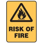 Flammable Picto Risk Of Fire Sign