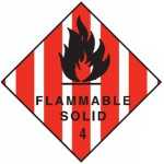 Flammable Solid Class 4.1 Sign