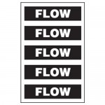 Flow Pipe Markers Black/White
