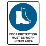 Foot Protection Picto Foot Protection Must Be Worn In This Area Sign