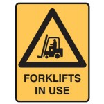Forklift Picto Forklifts In Use Sign