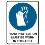 Hand Protection Picto Hand Protection Must Be Worn In This Area Sign