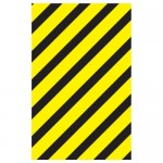 Hazardous Materials Pipe Markers Black/Yellow