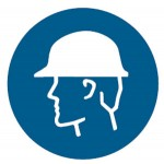 Head Protection Picto Sign Self-Adhesive Vinyl